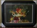 Tranh thêu  Mâm hoa quả