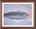 Tranh thêu tay phong cảnh núi Phú Sĩ
