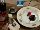 Bộ đồ ăn gốm sứ Minh Long hoa văn Hương Biển Kem