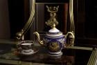 Bộ trà Gốm sứ Minh Long hoa văn Cẩm Tú