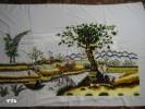 Tranh thêu tay phong cảnh Đồng quê