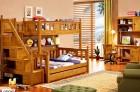 Giường 2 tầng trẻ em gỗ sồi loại 1m2 QC0901